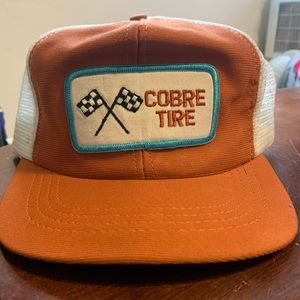 Vintage COBRE Tire Patch Trucker Snapback Hat